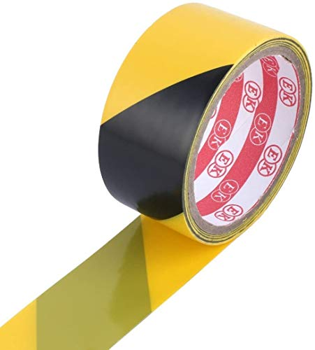 JUZZQ PRECAUCIÓN PRECAUCIÓN Adhesiva De Cinta Adhesiva, Excelente Producto para Su Uso En Pisos, Paredes, Tuberías Y Equipos, 32.8 Pies 10 Metros, Amarillo Negro
