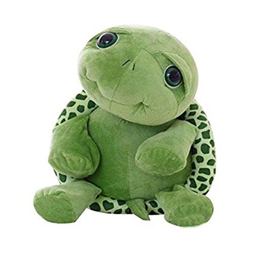Qinlee Kuscheltier Schildkröte Chilly, grün, Großes Augen Schildkröte Karikatur Plüsch Spielzeug (63CM)