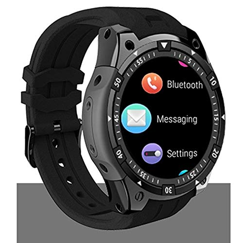 X100 smart watch Android 5.1 OS pulsera Smartwatch MTK6580 1.3 'AMOLED Affichage 3G SIM relojes PK Q1 Pro IWO KW18 (negro/con caja de regalo)