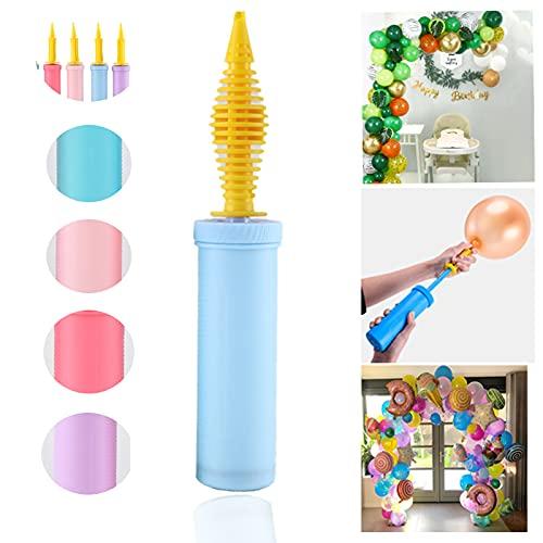 Pompa palloncini Mano - 1Pcs Portatile pompa per palloncini per Palloncini, Gonfia palloncini,Pompetta per palloncini d'aria a doppia azione per Party o Eventi (colore casuale)