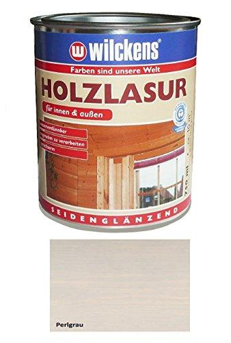 Wilckens 750 ml Holzlasur Innen & Außen, wasserverdünnbar, Perlgrau Seidenglänzend