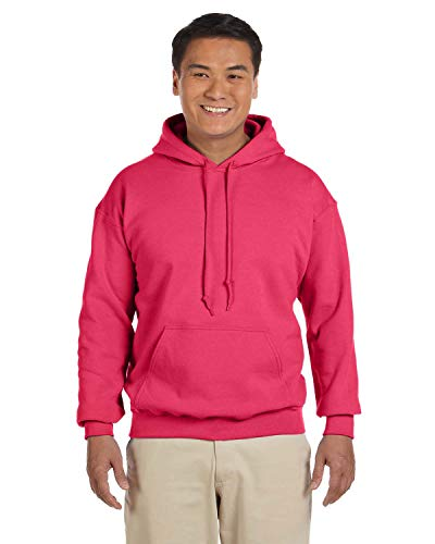 Gildan - Sudadera con capucha de mezcla pesada - 18500 - rojo - Large