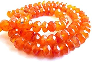 """Jewel Beads Natural Beautiful jewellery 5 Mm Faceted Rondelle Shape Beads Natural Carnelian Gemstone 13"""" Strand rondelle beads,beads,rondelle, faceted beads, rondelle bead,Code:- JBB-18947"""