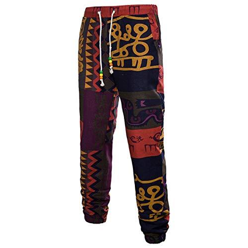 Pantalones elásticos con cordón de Cintura elástica para Hombre Pantalones Deportivos Deportivos con retales de Hip Hop de Verano 4XL