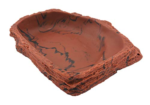 Lucky Reptile WDL-8 Corner Dish Lava, groß, Eck Wassernapf oder Futternapf für Terrarien