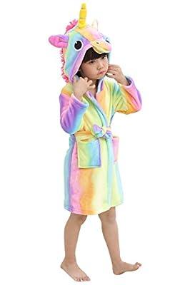 Kids Unicorn Robe Animal Hooded Plush Robe for Girls Boys