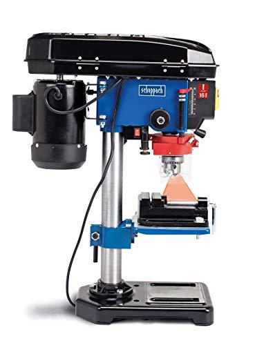 SCHEPPACH DP16VLS Taladro de Columna con Sistema de Alineamiento Laser con 5 Velocidades Distintos Usos, 500W, Azul