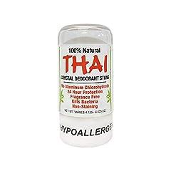 Deodorant Stones of America: Thai Crystal Deodorant, 4.25 oz (Pack of 2) 4.25 oz