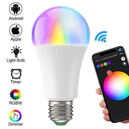 GLEDOPTO Smart LED WiFi Lampen, ZigBee E27 Dimmbar Mehrfarbig RGB LED Birne Sprachgesteuertes Stimmung Licht Direkt kompatibel mit Echo Plus und Echo Show (2. Gen.), Kompatibel mit Philips Hue Bridge