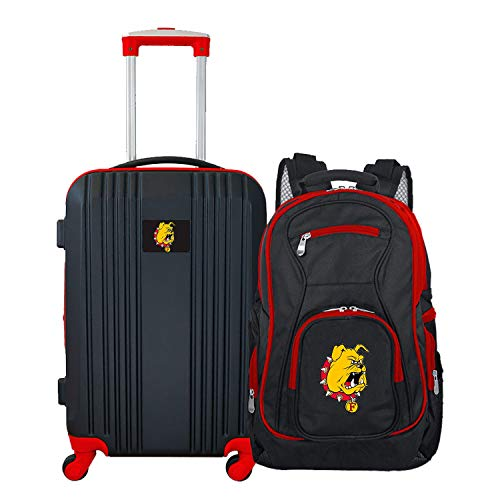 Purchase NCAA Ferris State Bulldogs 2-Piece Luggage Set (Renewed)