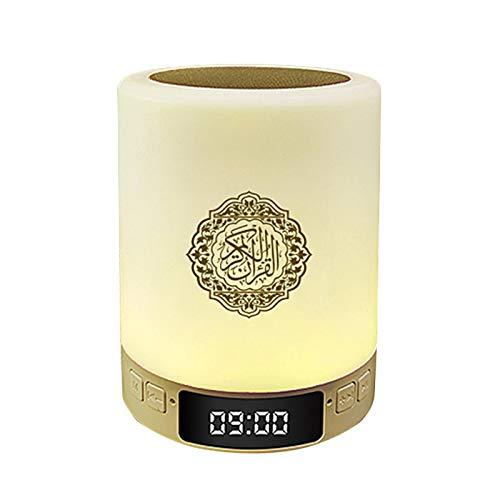 Smart Touch LED-Lampe, Quran Smart Touch tragbare LED-Lampe mit wiederaufladbarer Fernbedienung Bluetooth Lautsprecher MP3 FM Radio Lautsprecher Geschenk