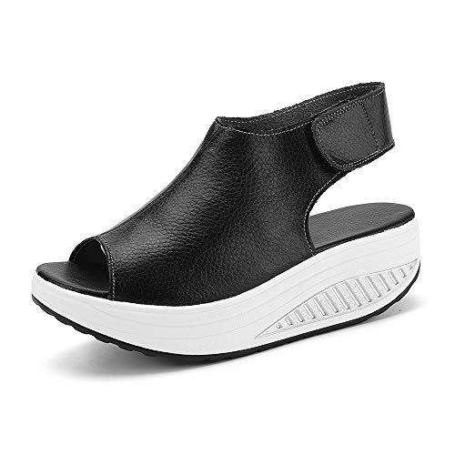 [Uroi] スポーツサンダル 厚底 レディース ベロクロ マジックテープ 介護靴 介護シューズ ナースシューズ ウォーキング スニーカー スリッポン カジュアル