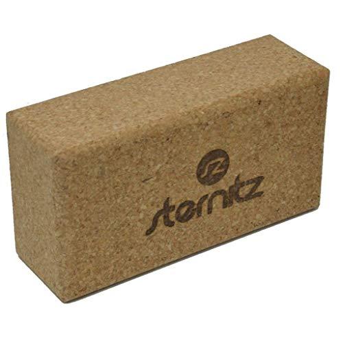 Sternitz – Blocco da Yoga – Eco-Friendly – Non tossico – Leggero e durevole – Yoga Block, Sughero, 23cm x 12cm x 7,5cm