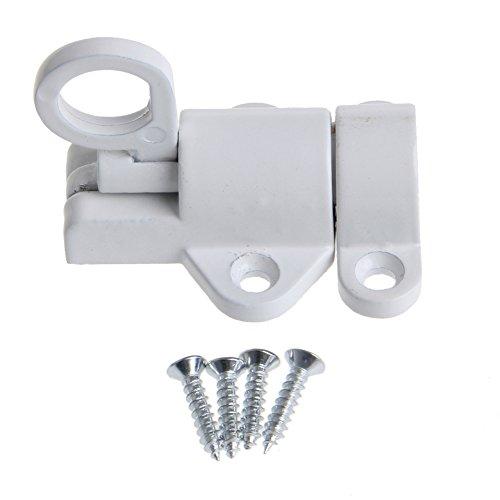YUYUE21 (1 Stück Aluminiumlegierung selbstschließende automatische Verriegelung Bounce Türriegel Aluminiumverriegelung - Weiß