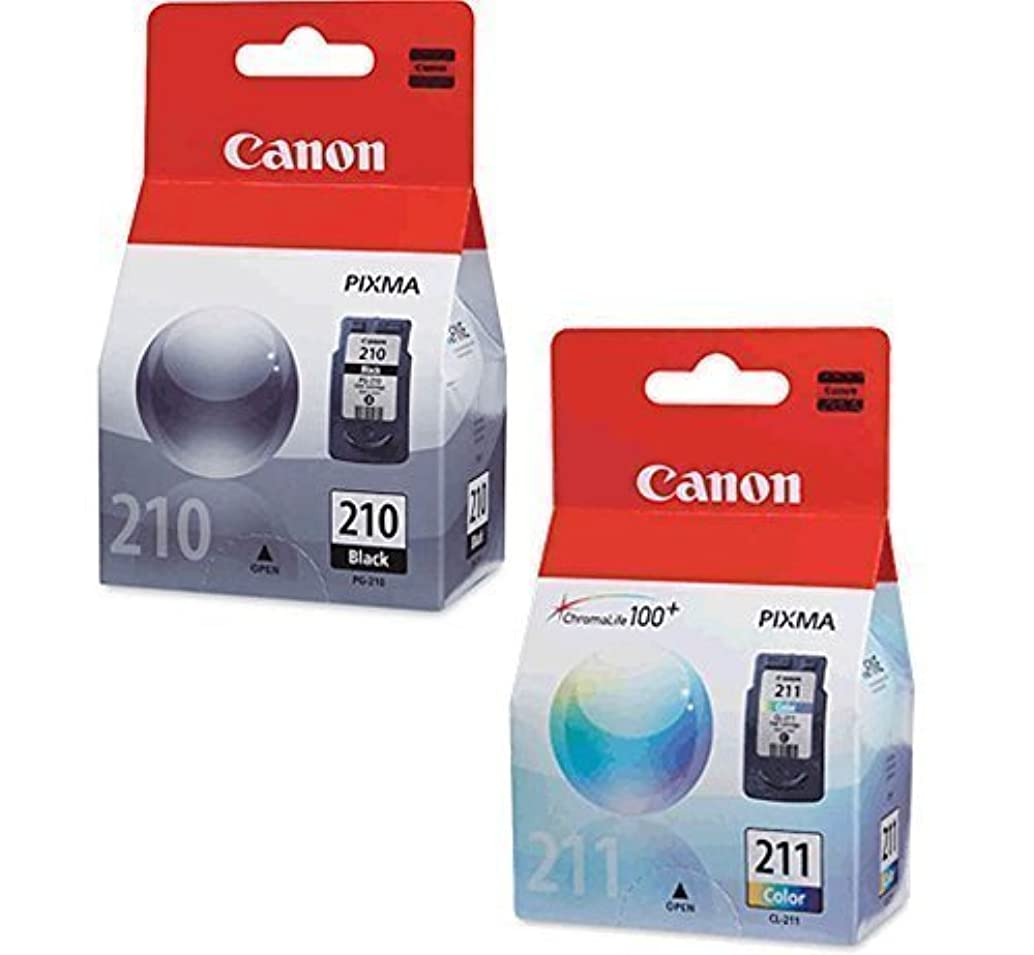 Canon PG-210 Black, CL-211 Color Ink Cartridge Set for PIXMA MP240 MP250 MP270 MX320 MX330 MX340 IP2700 IP2702 Printers OEM