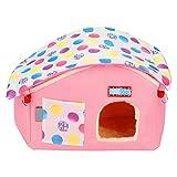 Zerodis Kleines Haustier Haus Tier hängen Spiel Übung Hamster Spielhaus mit Kette für Kaninchen...