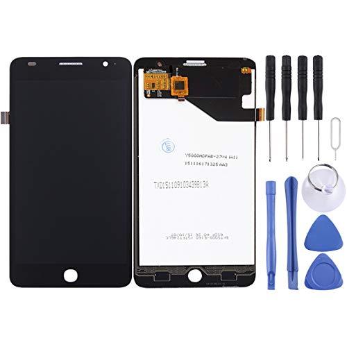 PENGCHUAN Partes de reparación de teléfonos móviles For Alcatel One Touch Pop Star 4G / 5070 Pantalla LCD Ensamblaje de Pantalla táctil digitalizador (Color : Black)