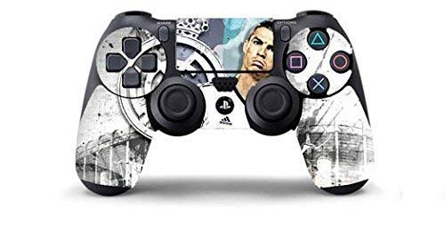 CRISTIANO RONALDO REAL MADRID Skin Cover Joystik PS4 HD CONTROLLER WIRELESS DUALSHOCK 4 PLAYSTATION 4 limited edition DECAL ADESIVA