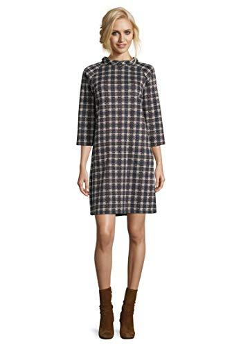 Betty Barclay Damen 6415/0578 Kleid, Mehrfarbig (Dark Blue/Brown 8876), (Herstellergröße: 44)