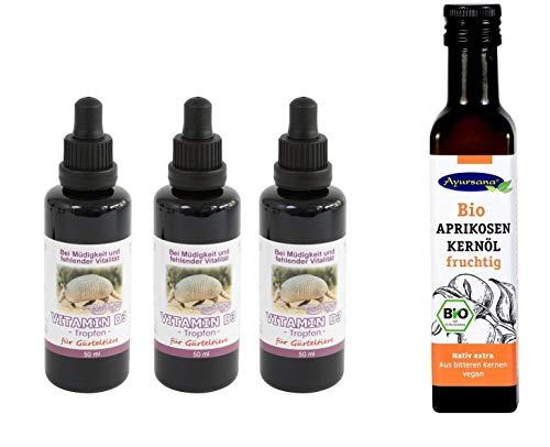 Robert Franz - Vitamin D3 (3 x 50 ml) und Ayursana - Bio Aprikosenkernöl (250 ml)