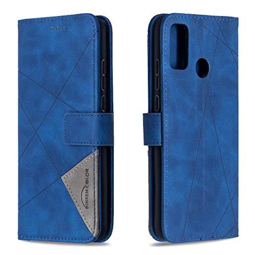Tosim Huawei Honor 9X Lite Hülle Klappbar Leder, Brieftasche Handyhülle Klapphülle mit Kartenhalter Stossfest Lederhülle für Huawei Honor 9X Lite - TOBFE220275 Blau