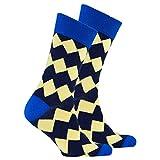 Socks n Socks-Men's Luxury Cotton Colorful Funky Admiral Zig Zag Socks