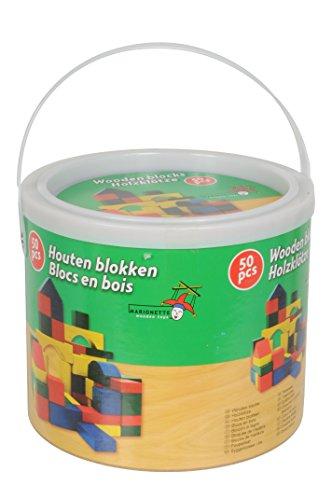 Marionnette Wooden Toys - 44026 - Jeu de Construction - Eléments de Construction Bois x50