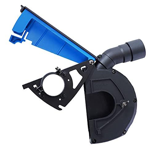 Amoladora angular Cubierta protectora de polvo de molienda a prueba de polvo Accesorios de la máquina de piedra para recoger polvo azul