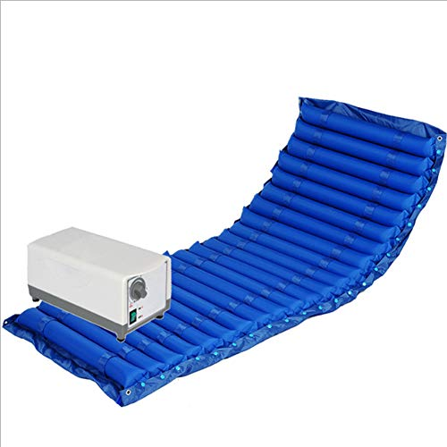 CANDYANA Colchón de Aire antiescaras médico con Modo de Reposo Incluye Bomba eléctrica Ultra silenciosa Protección contra úlceras por presión adolorida en la Cama,Blue,200x90cm