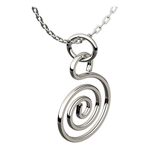 UPCO Jewellery Plata Esterlina Espiral Celta Collar Pendiente