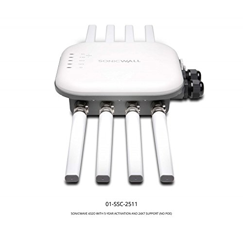 SonicWall SonicWave 432O - Punto de acceso (AES,TKIP,WEP,WPA,WPA2, Hidden SSID, 18,8 W, Mesa, Blanco, 2500 Mbit/s)