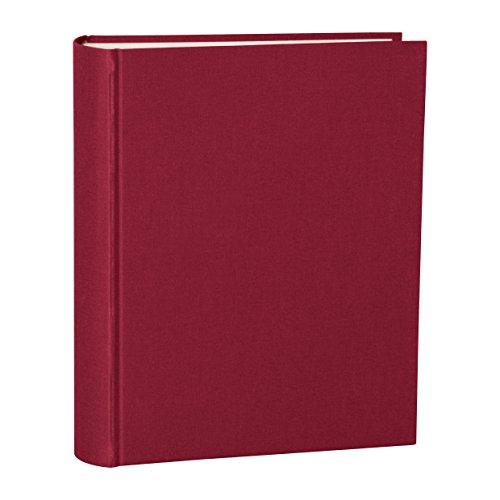 Semikolon (351024) Album Large burgundy (dunkel-rot) - Foto-Album mit 130 Seiten - Cremeweißer Fotokarton mit Pergaminpapier - Format: 24,5 x 30,5 cm