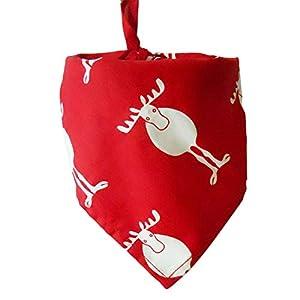 coflower Bandana Santa Christmas Pet Pattern Rouge Foulard Vert Chien Bandana Bavoir de Collier de Chat