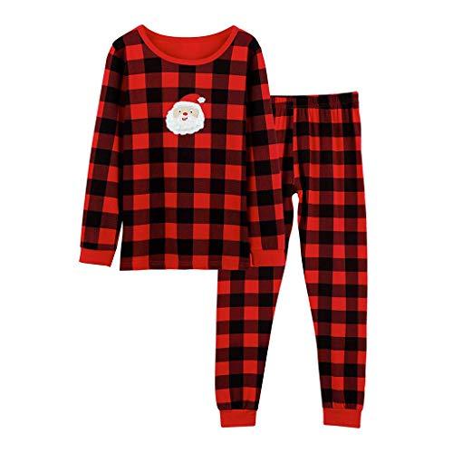 Schlafanzug mit Plaid-Print, 2-teilig, Pyjamaset, Jungen Mädchen (1-12 Jahren) Pyjama, Nachtwäsche Set/Super elastisch
