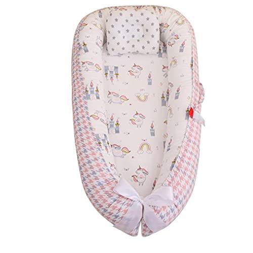 XKJFZ Ocioso bebé de la Vaina de algodón Suave Dormir recién Nacido del Amortiguador de la Cama Cuna portátil Desmontable con la Almohadilla style4, Cama portátil Ajustable para bebés/bebé