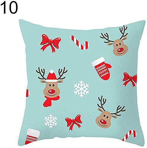 Tedtte Dekokissenbezug Cartoon Christmas Elk Snowman Weihnachtsmann Cute 810, Polyester Kissenbezug Kissenbezug 45 X 45 cm