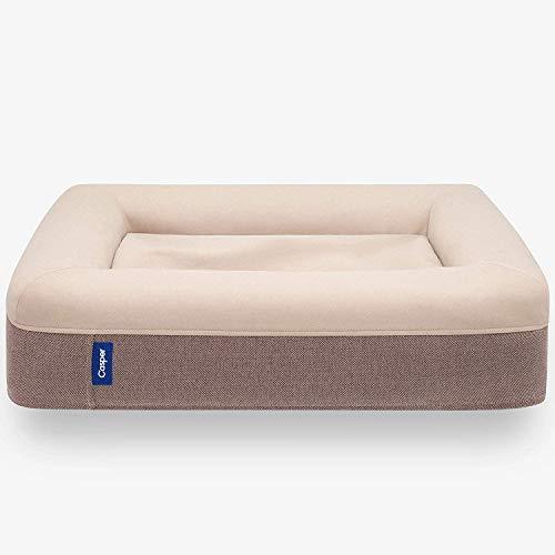 Casper Dog Bed, Plush Memory Foam, Small, Sand