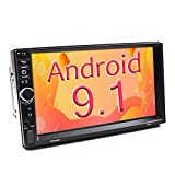 Binize 7 Inch Double Din Android Car Stereo, in-Dash Multimedia Player,with GPS Navigation,FM,Bluetooth,WiFi,USB/TF/AUX Input,Back up Camera Input(B7918 2G RAM+16G ROM)
