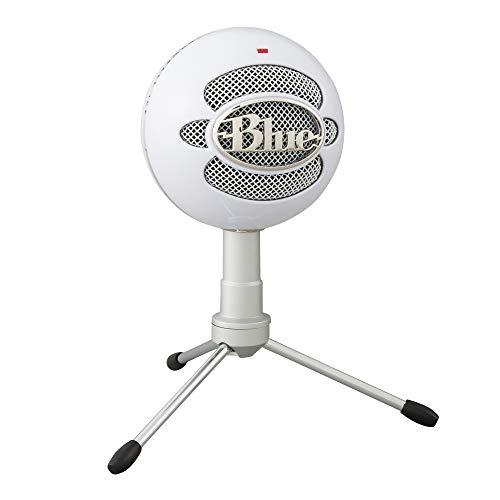 Blue Micrófono USB Snowball ICE Plug'n Play para grabación, podcasting, broadcasting, streaming de gaming en Twitch, locuciones, vídeos en YouTube en PC y Mac - Blanco