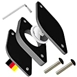 dipos® Fahrrad-Halterung kompatibel mit Apple AirTag - Ortung deines Rads durch AirTags I Universell inkl. Schrauben + Werkzeug I AirTag Halter für E-Bike Schwarz