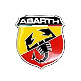 Abarth - 21532 - Adesivo 3D Ufficiale, Scudetto, 50 mm
