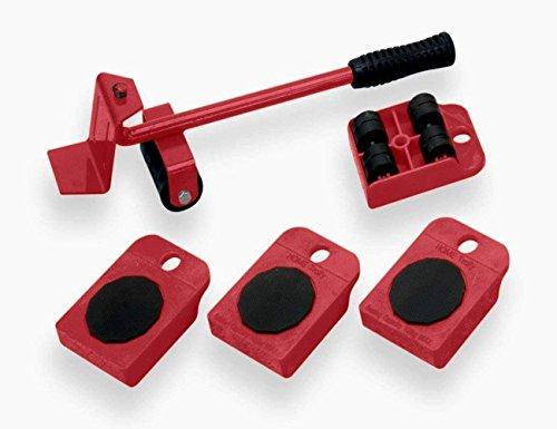 UBEI Elevador de muebles portátil, dispositivo de levantamiento pesado para el hogar, color rojo