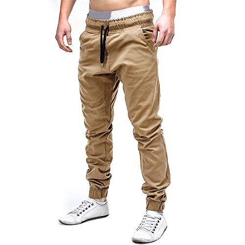 Realde Herren Lange Hosen Sporthose Freizeithosen Freizeit Unifarben mit Taschen Trainingshose Jogginghose Herbst Winter Männer Loose fit Stretch Breathable