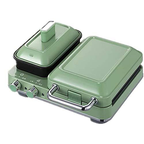 SHUILV Máquina de desayuno del fabricante de sándwiches, máquina de desayuno de la comida multifuncional para el hogar Fabricante de waffle Maker de calefacción multifuncional Tostador de prensa de to