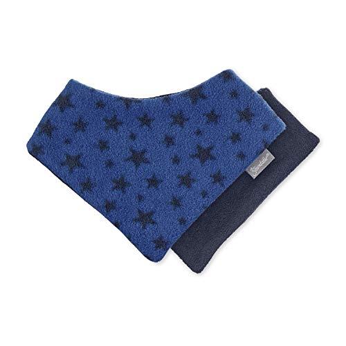 Sterntaler - baby jongens driehoekig doek om te draaien halsdoek klittenbandsluiting fleece sterren, blauw - 4101901