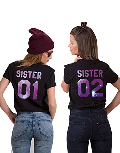 "Best Friends BFF FREUNDINNEN Besties Damen T-Shirt Shirts im Set /""Soul Sisters/"""