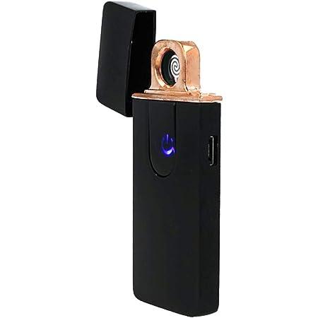 SekTek AA5551 Accendino Elettrico Dual Face USB Ricaricabile Antivento Senza Fiamma Colore Nero Lucido