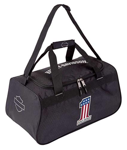 Harley-Davidson #1 RWB Logo Sports Duffel Bag w/Strap - Black 99418-NUMBER1