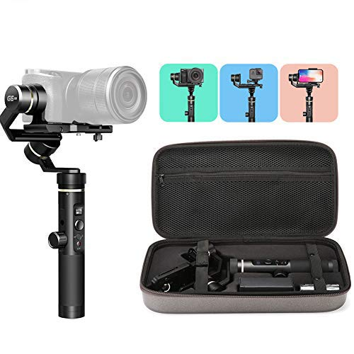 FeiyuTech G6 Plus [Official] 3-Axis Handheld Gimbal Stabilizer 3-in-1 for Lightweight Pocket Mirrorless Camera, GoPro Hero 8/7/6/5 Action Camera and Smartphone,Payload 1.76 lb