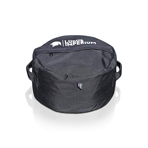 Ludus Imperium Round Fitness Sandbag 100 LB with Two Handles - Heavy Duty Workout Sandbags for Training, Fitness, Cross-Training & Exercise, Workouts, Sandbag Weights